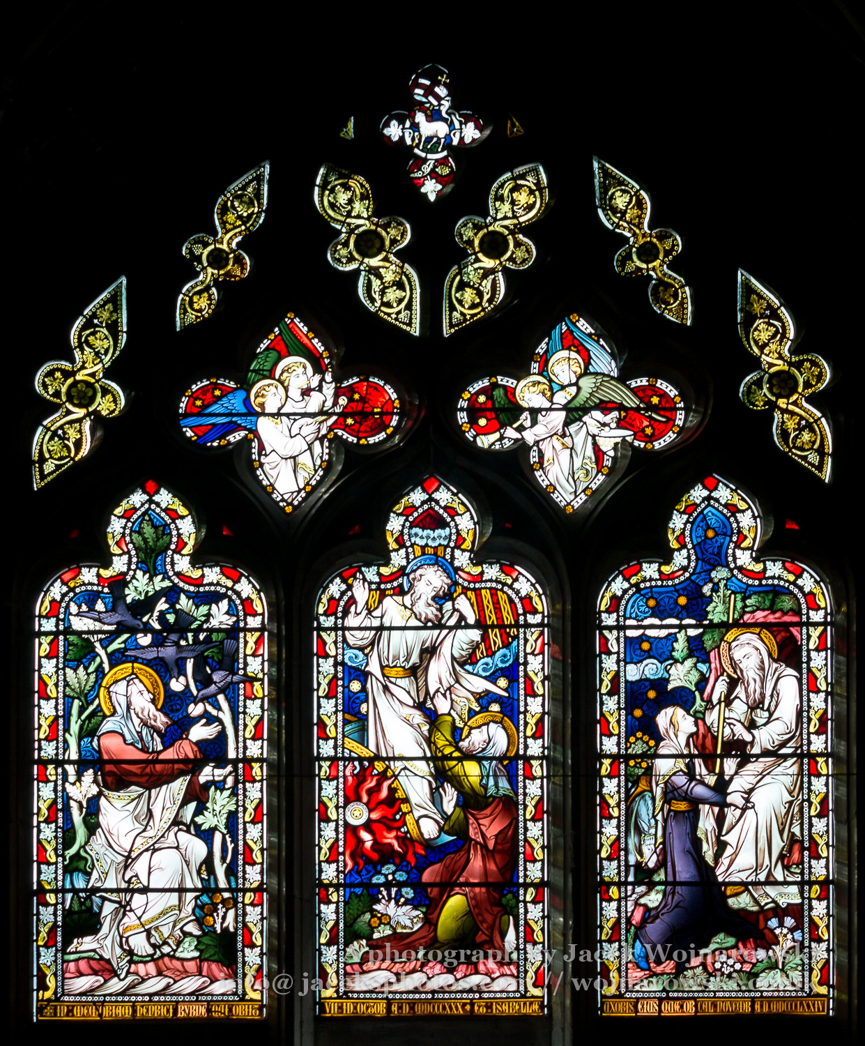Stained Glass In Worcester Cathedral The Byrne Window